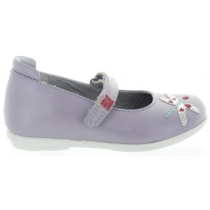 Purple leather casual mary janes