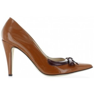 Leather pumps for ladies on sale in brown leather