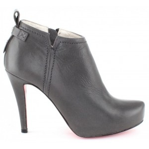 Red sole leather boots for women from Europe