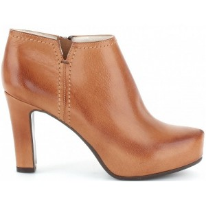 Brown leather boots for women European