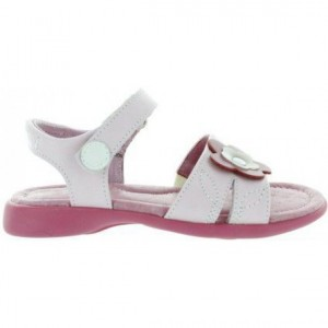 Pink leather sandals for girls
