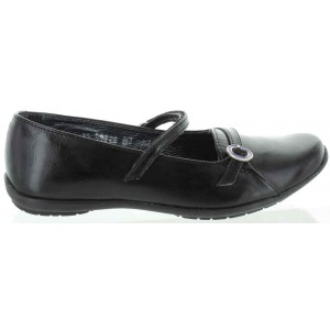 Shoes for teens in black leather