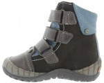 Winter boots for boys in brown leather