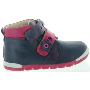 High support shoes for children stylish in navy leather