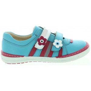 European orthopedic girls sneakers in blue leather