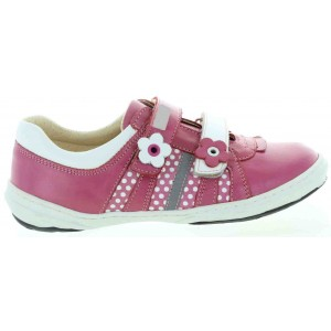 Sneakers for girls leather in fuchsia