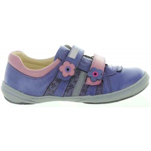 Sneakers wth support for girls in purple leather