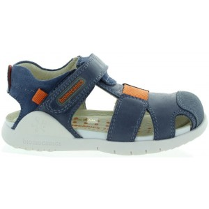 Sandals for boys in blue leather best for summer.