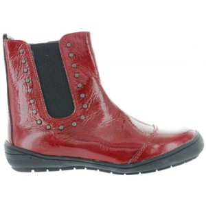 Girls boots from France in red leather