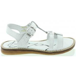 Sandals for kids on sale designer silver leather