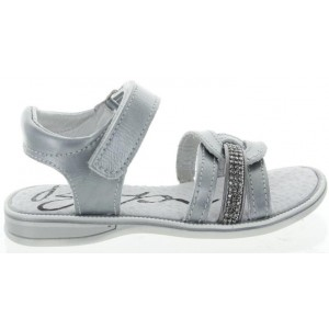 Dress sandals in silver leather