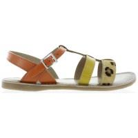 Fabiola Orange - Teen Fashion Sandals from France