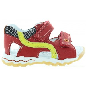 Baby boy red sandals with good support