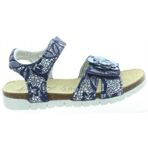 Leather summer shoes for child with support