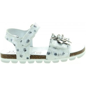 Girls sandals from France in silver leather