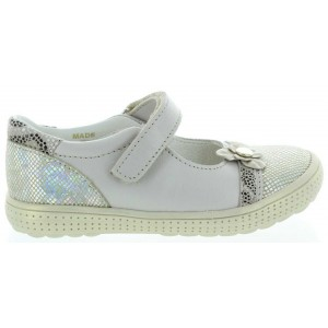 Beige leather orthopedic mary janes for child