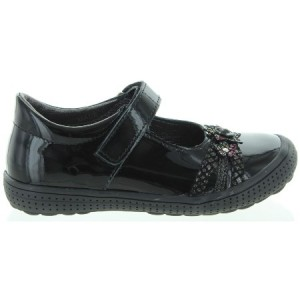 School shoes for girls with arches in black