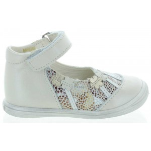 Beige color leather special shoes for a baby