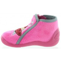 Achapi Pink - Boiled Wool Slippers for Kids
