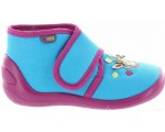 Toddlers blue ankle house shoes for girls