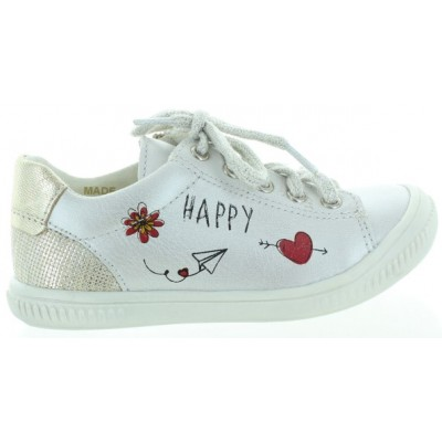 French sneakers for girls silver leather and quality