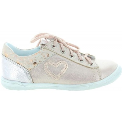 Sneakers for a child in rose leather