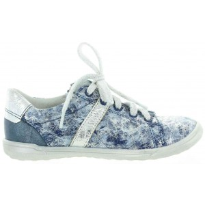 Girls from France silver leather sneakers