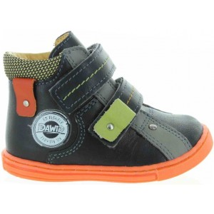 Support leather boots for kids with flat feet
