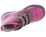 Baby boots from Poland in fuchsia leather