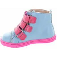 Iwona Blue - Double Wide Boots for Toddler