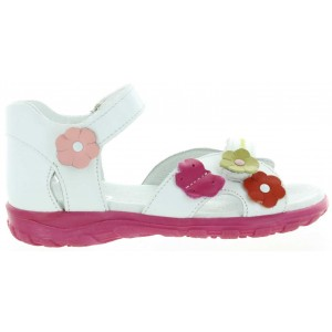 High top girls sandals best in white leather