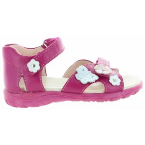 Orthopedic sandals for girls in pink leather
