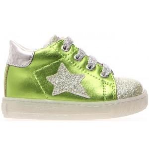 Designer green metallic high tops for girls
