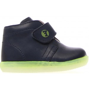 Ankle sneakers for boys in navy leather