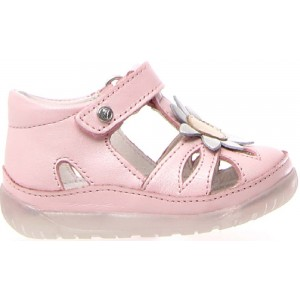Pink baby shoes with support