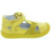 Castillo Yellow - Leather Toddler High Tops Orthopedic