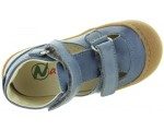 Antisweat soles baby leather sandals in blue leather