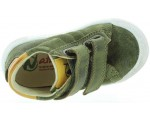 Toddler boys green leather high tops