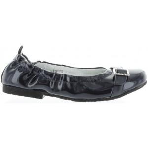 Girls ballerina in navy leather best for dress