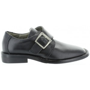 Dress shoes for a boy in black leather