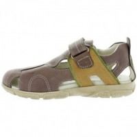 Borowik Brown - Leather Sandals for Kids with Good Arch