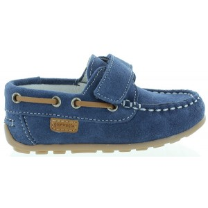 Dress loafers for boys in blue suede