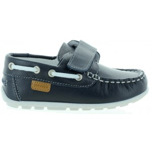 Leather loafers for a boy dressy in blue