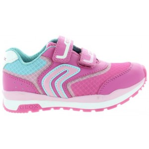 Child with good support pink sneakers