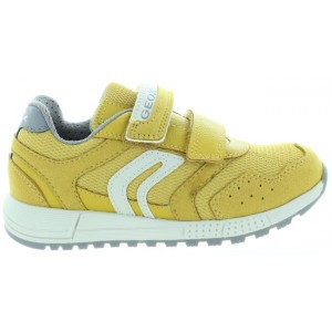 Geox sneakers yellow leather with arches