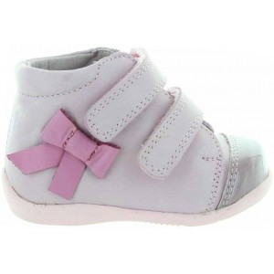 Pink high tops for new walking toddler