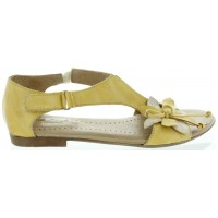 Beza Yellow - Woman European Sandals with Support
