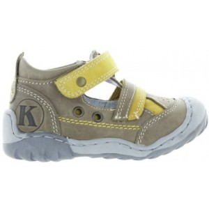 Natural leather baby shoes with support