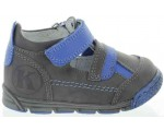 Weak ankles shoes in gray leather for baby