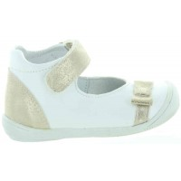 Konia White - White Dress Shoes for Child with Good Arch